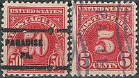 USA - США доплатные марки 1925 рік