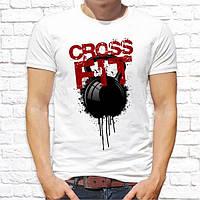 """Чоловіча футболка з принтом """"Crossfit"""" Push IT"""