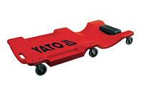 Лежак для ремонту на 6 колесах YATO, l= 1 м YT-0880