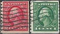 USA Вашигтон 1912-1915 Coil Stamps п/з
