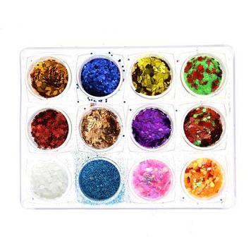 Декор для нігтів, 12 кольорів K134