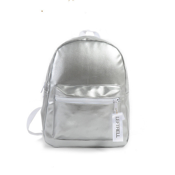 Товар з дефектів. Сріблястий міський жіночий рюкзак