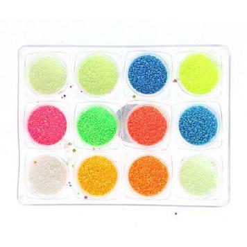 Декор для нігтів (фосфор) Global Fashion 12 кольорів K133
