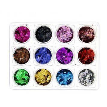 Декор для нігтів, 12 кольорів K132 K121 K122