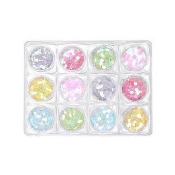 Декор для нігтів, 12 кольорів K132