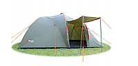 Палатка Abarqs Stella-3, тамбур, зеленая i Серебреного-синяя