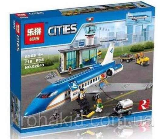"Конструктор Lepin Lepin 02043 ""Пассажирский терминал в аэропорту"" (аналог Lego City 60104),, 718 дет"