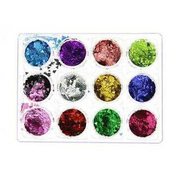 Декор для ногтей (ромбики), Global Fashion, 12 цветов K63 K145