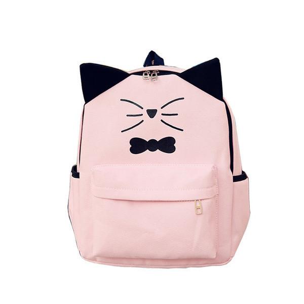 Товар с дефектом Пудровый рюкзак Котик с ушками