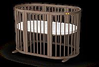 Дитяче кругле ліжечко-трансформер 9 в 1 Ingvart Smart Bed Round, фото 1