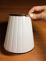 Плафон к классической люстре с золотистым кантиком Е14, фото 1