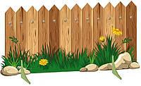 """Декорация для детского сада """"Деревянный забор"""""""