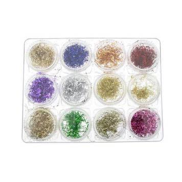 Декор для нігтів, 12 кольорів K133