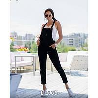 Комбинезон джинсовый женский черный Джинс 304-1, фото 1