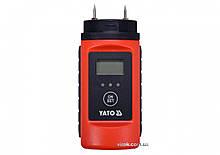 Влагомер для древесины и стройматериалов YATO YT-73141