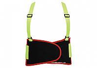 Пояс для підтримки спини YATO еластичний зі збільшеною видимістю (зелений), 125х 20 см, розмір XL