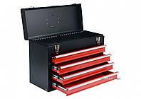 Ящик для инструментов металлический YATO с четырьмя шуфлядами 218 х 360 х 520 мм YT-08874