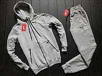 Мужской весенний спортивный костюм Puma (gray), серый спортивный костюм Puma