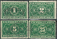 США 1912 рік. Parcel Post Due Stamps