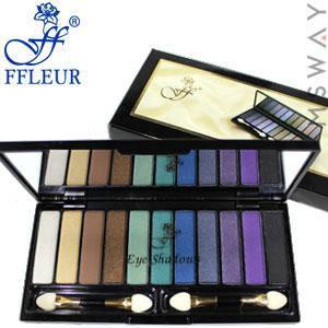 Ffleur - тени для век 11-цв пианино CL-9716 Тон 07 белые, беж, зеленые, синие, фиолет, черные матово-перл, фото 2