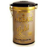 Чай Черный Akbar Gold 225 г. рассыпной ж/б