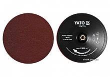 Круг шліфувальний YATO на липучку : Ø= 230 мм, гайка М14, + 4 круги по дереву і 4 круги по металу YT