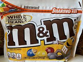 Конфеты M&M`s белый шоколад с арахисом