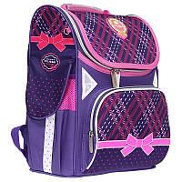 """Рюкзак шкільний каркасний (ранець) для дівчинки Class """"College"""" синій Чехія 9923, фото 1"""