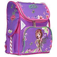 """Рюкзак школьный каркасный (ранец) для девочки Class """"Girl's Dreams"""" сиреневый Чехия 9917"""