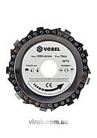 Круг цепной по дереву VOREL для болгарки Ø=115 мм