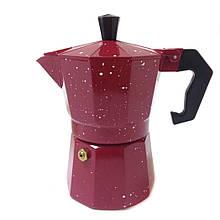 Гейзерная кофеварка Red Point R16591, 3 чашки, красная