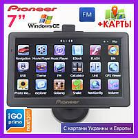 """GPS навигатор автомобильный Pioneer D716 Truck Black, 7"""" дюймов"""