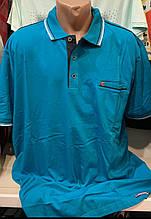 Мужские качественные хлопковые турецкие футболки с воротником поло и карманом рубашки больших размеров