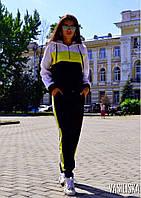 Костюм женский спортивный с капюшоном костюмка Черный