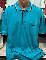 Мужские турецкие рубашки - футболки с воротником поло большого размера