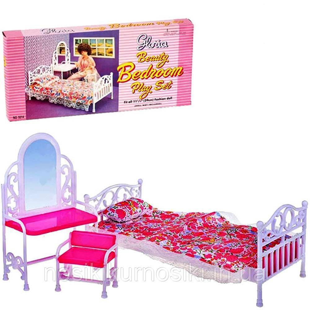 Кукольная мебель Gloria Глория Спальня 9314