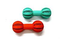 Іграшка резинова масажна Гантель 5*13,5см ZooMax