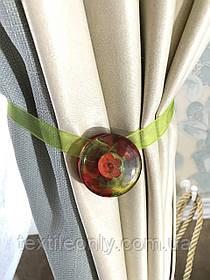 Магніти для штор колір салатовий з візерунком