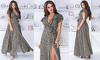 Шикарное летнее платье максиполированный штапель принт