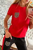 Двухцветный Спортивный костюм майка + штаны брюки Лампас , фото 5