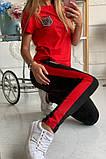 Двухцветный Спортивный костюм майка + штаны брюки Лампас , фото 6