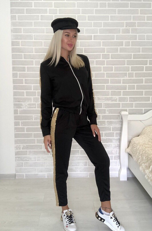 Костюм стильный женский чёрный, жёлтый, бежевый, хаки