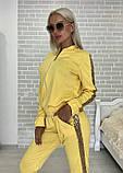 Костюм стильный женский чёрный, жёлтый, бежевый, хаки, фото 8