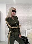 Костюм стильный женский чёрный, жёлтый, бежевый, хаки, фото 6