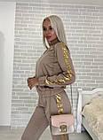 Костюм стильный женский чёрный, жёлтый, бежевый, хаки, фото 3