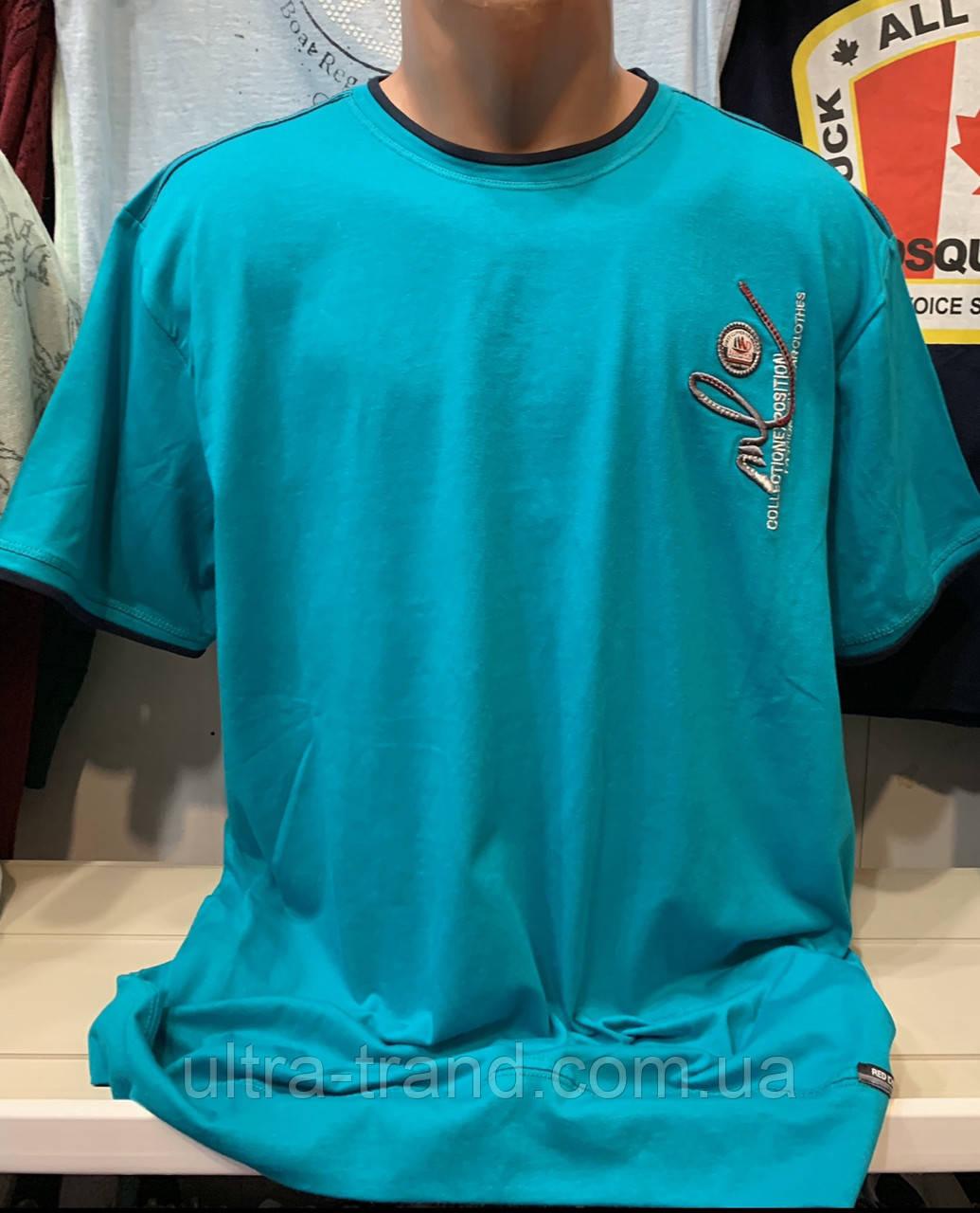 Мужские качественные хлопковые турецкие футболки на манжете для мужчин большого размера