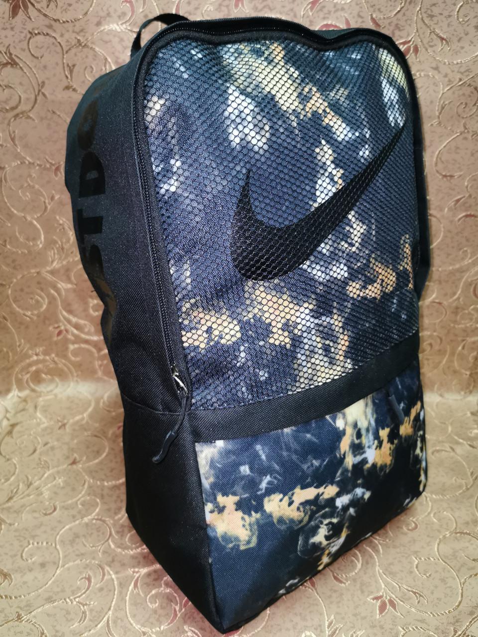 Принт рюкзак nike just doit качество спортивный спорт городской стильный ОПТ Школьный рюкзак