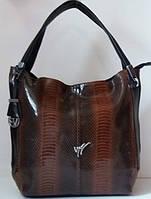 Женская сумка из натуральной кожи Коричневая