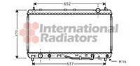 Радиатор охлаждения TOYOTA Camry IV (V20) (пр-во  Van Wezel), (арт. 53002232)