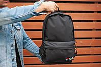 Рюкзак спортивный Fila (full black), черный рюкзак фила, синий рюкзак Фила (Реплика ААА), фото 1